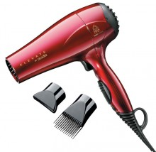 RED CERAMIC 1875 PRO BLOW DRYER W/ 3 BONUS ATTACHMENT